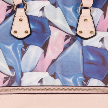 PAPRIKA Zipper Detail Printed Handbag