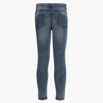 FAME FOREVER Washed Slim Fit Jeans