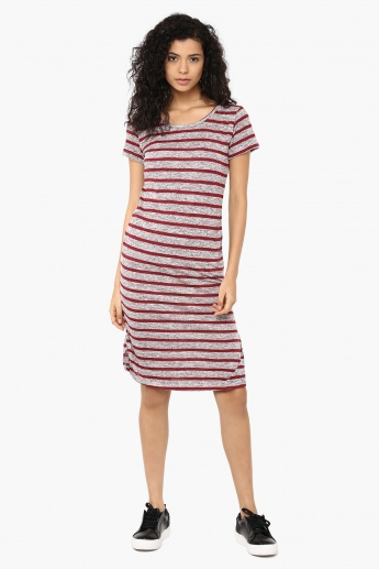 GINGER Striped Midi Dress