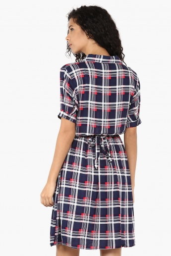 GINGER Plaid Checks Dress