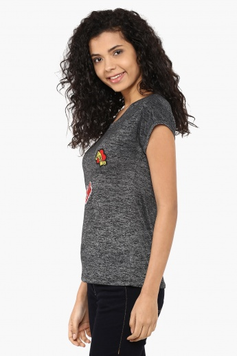 GINGER Love Pop Applique Top