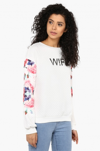GINGER Floral Sleevess Sweatshirt