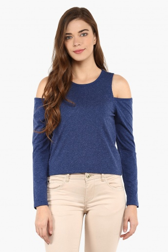 GINGER Cold Shoulder Top