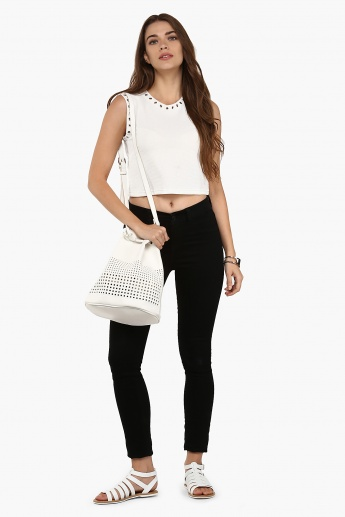 GINGER Lacy Loops Sleeveless Top