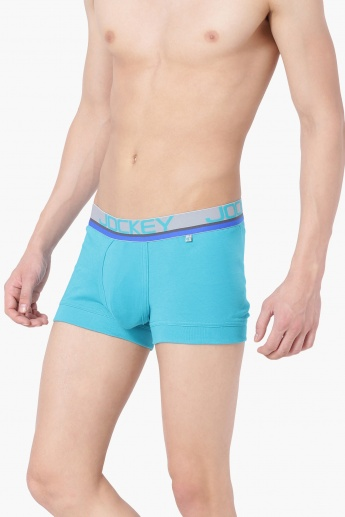 b609485a1f7b JOCKEY Solid Knitted Trunks | Blue