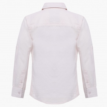 GINI&JONY Solid Full Sleeves Shirt