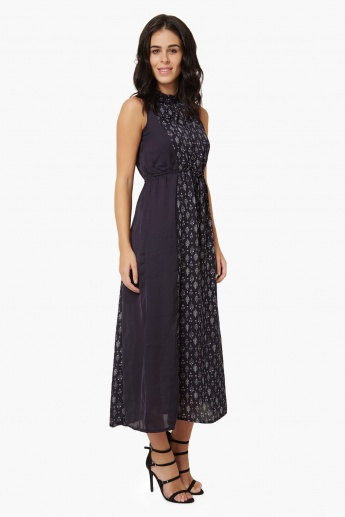 CODE Printed Sleeveless Maxi Dress