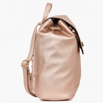 PAPRIKA Snake Skin Texture Metallic Backpack