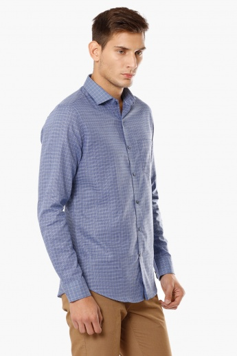 CODE French Placket Check Shirt