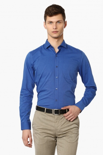 CODE Solid Slim Fit Shirt