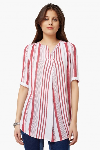FAME FOREVER Striped Tunic