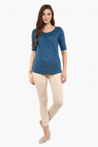 FAME FOREVER Textured Relaxed Fit Top