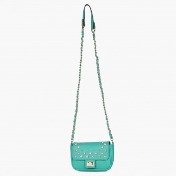 GINGER Embellished Twist-Lock Sling Bag