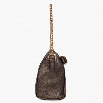 PAPRIKA Pebble Finish Cross-Body Handbag