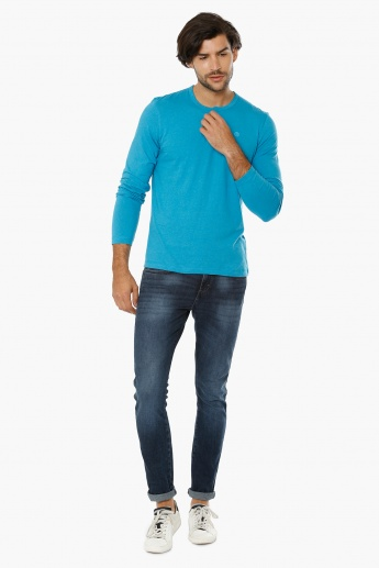 BOSSINI Henley Collar T-Shirt