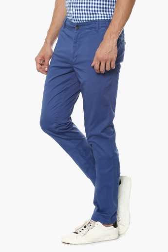 BOSSINI Slim Fit Flat Front Pants