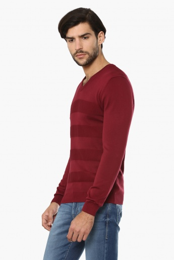 CODE V-Neck Full Sleeves Sweater