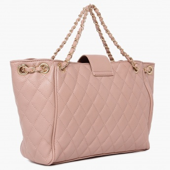 CODE Threaded-Chain Strap Quilted Handbag