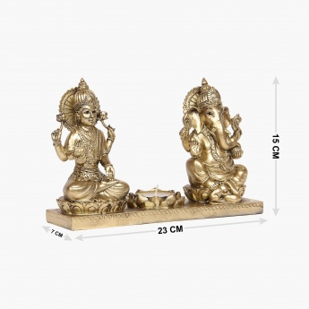 Galaxy Lakshmi Ganesha With T-Light