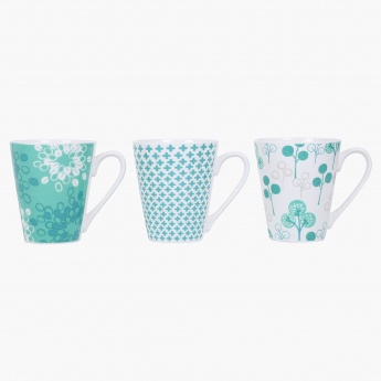 Clara New Bone China Clara Mug- Set Of 3 Pcs.
