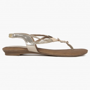 RAW HIDE Elasticated Strap Flat Sandals