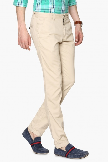 CODE Flat Front Slim Fit Trousers