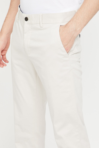 CODE Cotton Lycra Slim Fit Pants