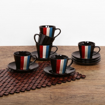 Zade Cup And Saucer- Set Of 6