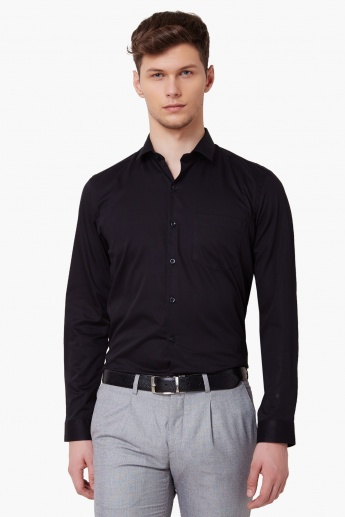 CODE Jetsetter Solid Full Sleeves Shirt