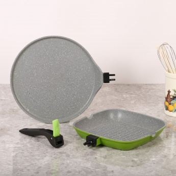 Victoria Tawa And Grill Combo With Detachable Handle