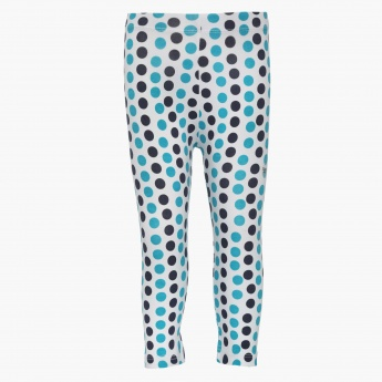 JUNIORS Polka Dot Print Leggings