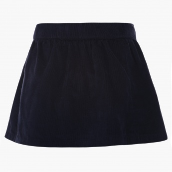 JUNIORS Bow Detail Corduroy Skirt