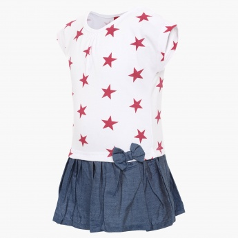JUNIORS Star Print Dress