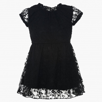 JUNIORS Lacy Dress