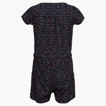JUNIORS Printed Button-Up Romper