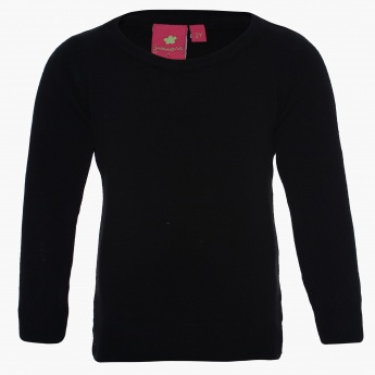 JUNIORS Solid Full Sleeves Sweater