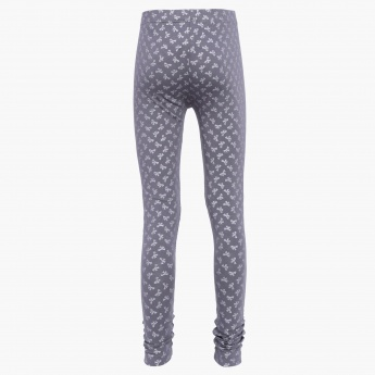 FAME FOREVER Bow Print Leggings