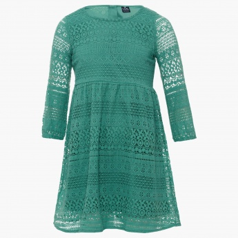 FAME FOREVER Lacy Full Sleeves Dress