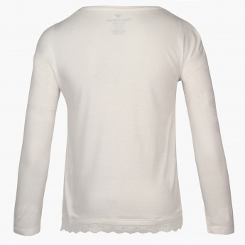 FAME FOREVER Chest Imprint Full Sleeves Top
