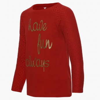 FAME FOREVER Have Fun Always Full Sleeves Top