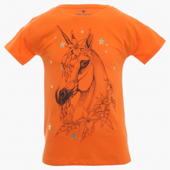 FAME FOREVER Unicorn Imprint Top