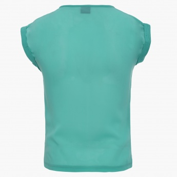 FAME FOREVER Solid Round Neck Top