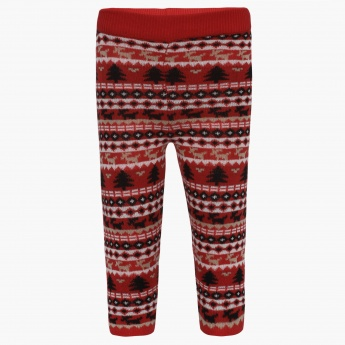 JUNIORS Christmassy Knitted Leggings