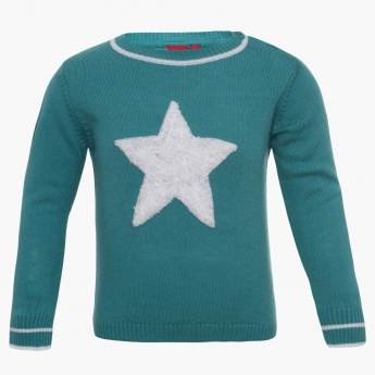 JUNIORS Woolly Star Sweater