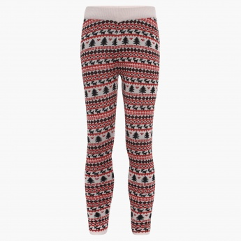 FAME FOREVER Christmassy Knitted Leggings