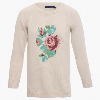 FAME FOREVER Rosy Stitch Pullover