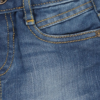 JUNIORS Stonewashed Whiskered Jeans