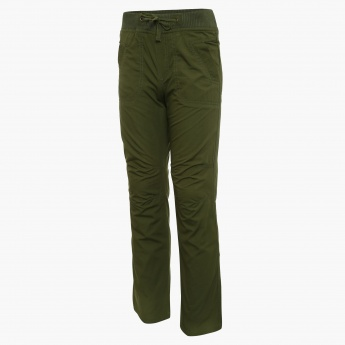 JUNIORS Solid Relaxed Fit Pants