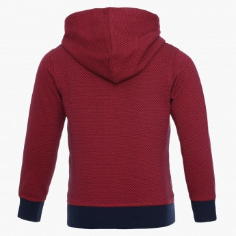 JUNIORS Zip-Up Hooded Sweatshirt