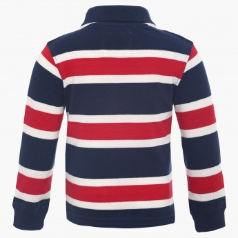 JUNIORS Stripe Block Full Sleeves T-Shirt